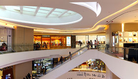Hysan place shopping mall interior, hong kong Royalty Free Stock Photography