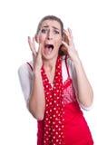 Hysterical женщина Стоковая Фотография