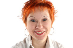 Hysterical smile Stock Photo