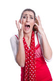Hysterical woman Stock Photography