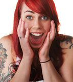 Hysterical Woman Shouting Stock Images