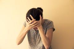 Hysterische Vrouw Stock Foto's