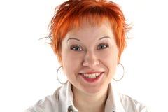 Hysterisches Lächeln Stockfoto