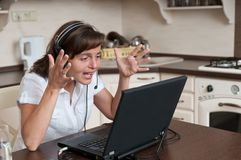 Hystery - bussy working woman Stock Image