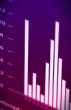 Hystogram di finanze Immagini Stock