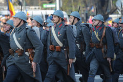 Hystorical armésoldater Arkivfoto