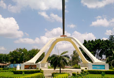 Hystorical monument in Arusha stock image