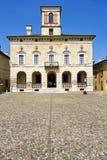 Hystorical stad av Sabbioneta - Italien - hertigslott från central fyrkant royaltyfri bild