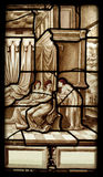 Hystory of psyche stained glass window Royalty Free Stock Photography