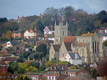 Hythe Кент церков St Leonards Стоковое фото RF