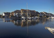 Hythe Marina Southampton Waters Hampshire arkivbilder