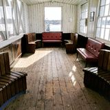 Hythe Pier ferry waiting room Stock Photography