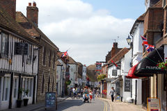 Hythe Town Centre road Stock Images