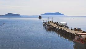 Hytt för fartyg och fartyg Black Sea Arkivfoton