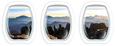 Hyttventilfönster på den Mount Sinai toppmötet Arkivfoto