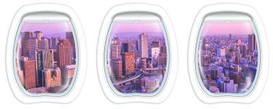 Hyttventilram på Osaka horisont Royaltyfria Bilder