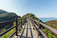 Hyuga海角美好的海岸线在宫崎,九州 图库摄影
