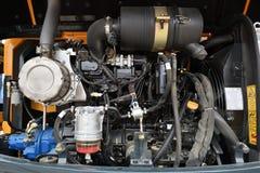 Hyundai-Baggermaschine Lizenzfreie Stockfotografie