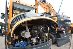 Hyundai-Baggermaschine Stockbilder