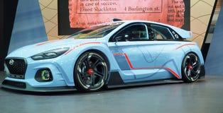 Hyundai benadrukt de RN30 prototypeauto bij de 34ste Motor Expo 2017 Royalty-vrije Stock Afbeelding
