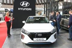 Hyundai bij het Car Show van Belgrado bij het Car Show van Belgrado Royalty-vrije Stock Fotografie