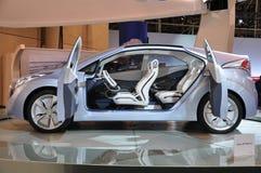 Hyundai Blu- automobile di concetto Fotografia Stock Libera da Diritti
