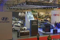 Hyundai booth at International Motor Show Stock Image