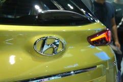HYUNDAI car commercial brand emblem and logos. KUALA LUMPUR, MALAYSIA -NOVEMBER 25, 2018: HYUNDAI car commercial brand emblem and logos. Hyundai is one of the royalty free stock image