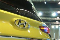 HYUNDAI car commercial brand emblem and logos. KUALA LUMPUR, MALAYSIA -NOVEMBER 25, 2018: HYUNDAI car commercial brand emblem and logos. Hyundai is one of the stock photos