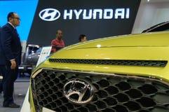 HYUNDAI car commercial brand emblem and logos. KUALA LUMPUR, MALAYSIA -NOVEMBER 25, 2018: HYUNDAI car commercial brand emblem and logos. Hyundai is one of the stock photo