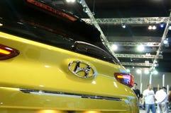 HYUNDAI car commercial brand emblem and logos. KUALA LUMPUR, MALAYSIA -NOVEMBER 25, 2018: HYUNDAI car commercial brand emblem and logos. Hyundai is one of the stock image