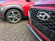 Hyundai cars. Berlin, Germany - December 26, 2017: Hyundai cars. The Hyundai Motor Company is a South Korean multinational automotive manufacturer royalty free stock photo