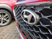 Hyundai cars. Berlin, Germany - December 26, 2017: Hyundai cars. The Hyundai Motor Company is a South Korean multinational automotive manufacturer royalty free stock image