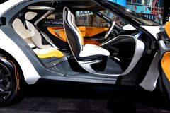 Hyundai Concept Car interior. With doors open Royalty Free Stock Photos