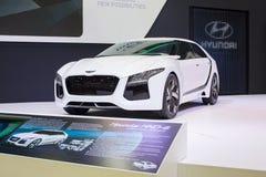 Hyundai-concept nieuwe het denken nieuwe mogelijkheden bij de Internationale Motor Expo van 30ste Thailand op 3 December, 2013 in  Stock Foto