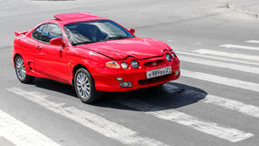 Hyundai Coupe. CHEBOKSARY, RUSSIA - JULY 20, 2014: Motor car Hyundai Coupe at the city street Stock Photography