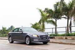 Hyundai-de Aandrijving van de ONTSTAAN 2015 Test royalty-vrije stock fotografie