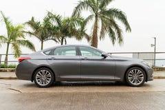 Hyundai-de Aandrijving van de ONTSTAAN 2015 Test royalty-vrije stock foto