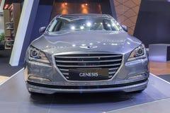 Hyundai-de Ontstaansedan toonde in Thailand de 37ste Intern van Bangkok Stock Foto's