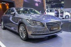 Hyundai-de Ontstaansedan toonde in Thailand de 37ste Intern van Bangkok Stock Foto