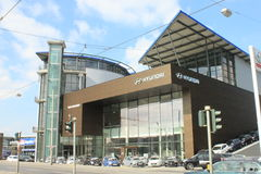 Hyundai dealership Royalty Free Stock Photo