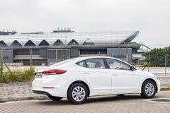 Hyundai Elantra-Aandrijvingsdag Stock Afbeelding