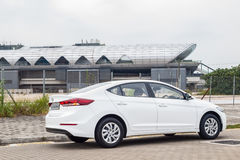 Hyundai Elantra-Antriebs-Tag Stockbild