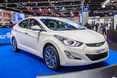 Hyundai Elantra a compact caron display Stock Photos