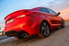 Hyundai Elantra-Coupé lizenzfreies stockbild