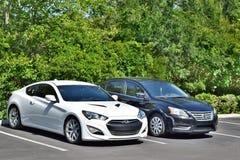 Hyundai et Nissan photographie stock libre de droits