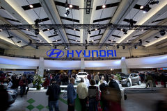 Hyundai exhibit at 2010 Autoshow Royalty Free Stock Image