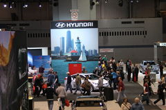 Hyundai exposition. Chicago auto show anniversary 2011 Royalty Free Stock Images