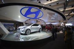 hyundai för autoshowbilbegrepp nuvis 2010 Arkivbilder