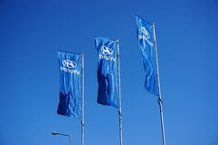 Hyundai flags Stock Photos